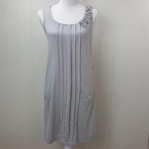 Loft Pleated Ruffle Dress